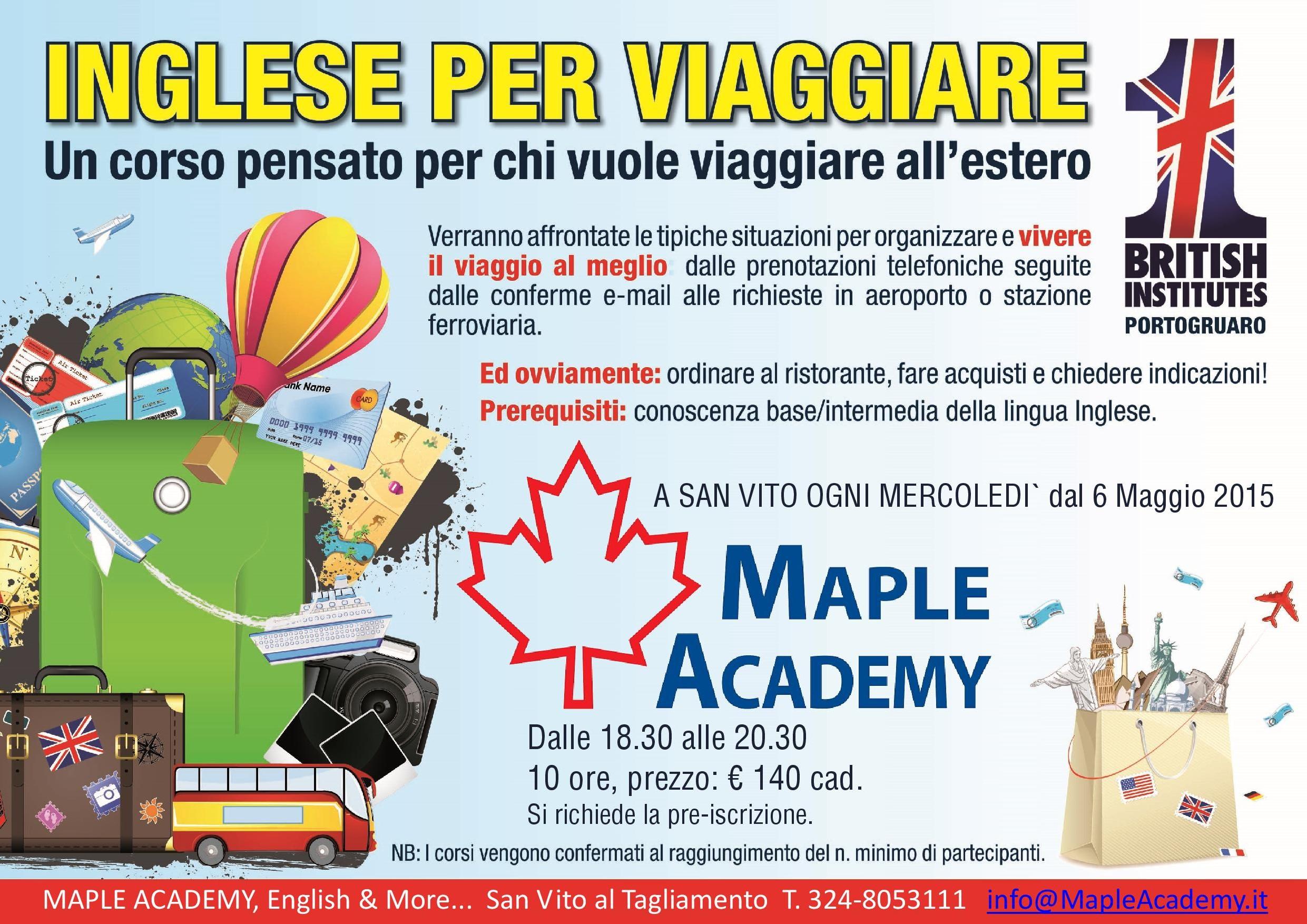 Inglese per Viaggiare Maple Academy
