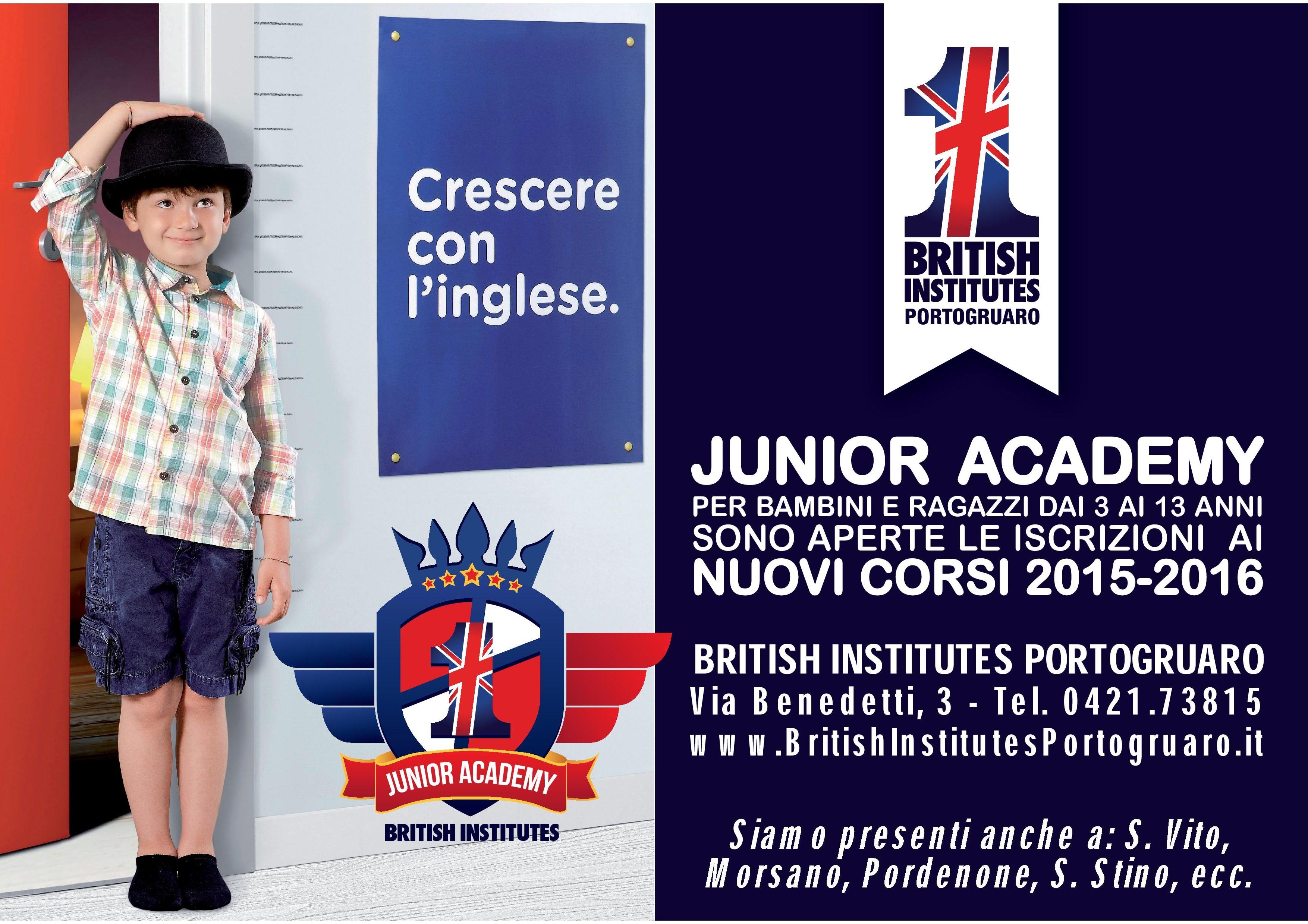 Nuovi percorsi formativi Junior Academy