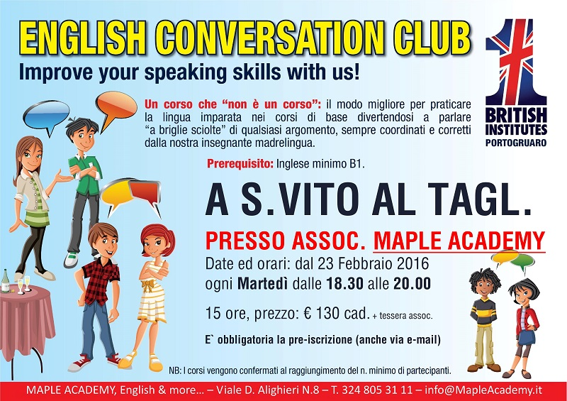 Corso English Conversation S.Vito